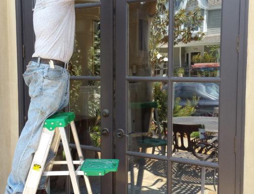 French Door Window Install