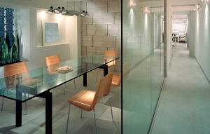 office glass walls
