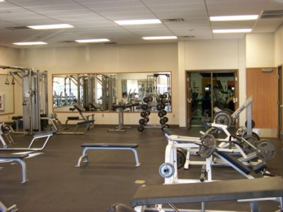 Commercial Mirror Install at rehabilitation center gym